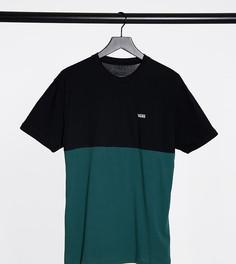 Рубашка с принтом колор-блок в черном и зеленом цвете Vans. Эксклюзивно для ASOS-Черный
