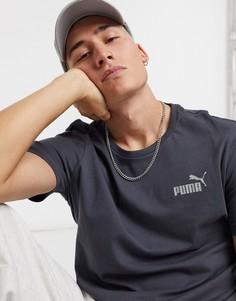 Черная выбеленная футболка Puma Essential-Черный