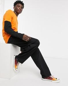Черные свободные джинсы ASOS DESIGN-Черный