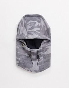 Серый капюшон с камуфляжным принтом Quiksilver Tech