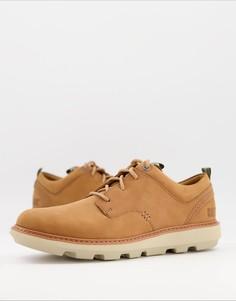 Светло-коричневые кожаные туфли на шнуровке CAT Brusk-Светло-коричневый