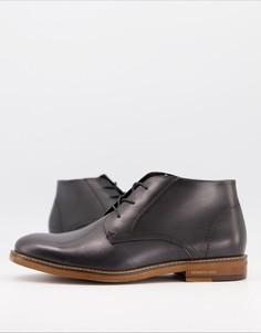 Серые кожаные ботинки-чукка Kenneth Cole-Серый