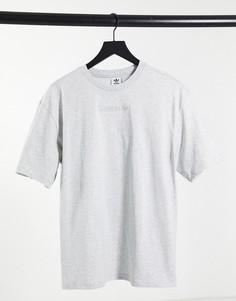 Серая oversized-футболка adidas Originals Cosy Comfort-Серый