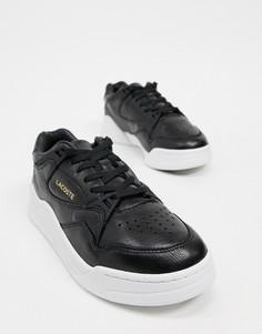 Черные кроссовки на плоской высокой подошве Lacoste Court Slam-Черный