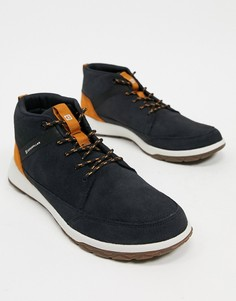 Черные ботинки в стиле casual на шнуровке CAT Quest-Черный