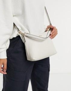 Белая кожаная сумка на плечо Paul Costelloe-Белый