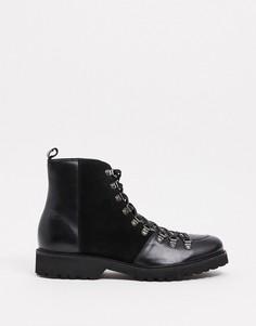 Кожаные и замшевые ботинки Bolongaro Trevor-Черный