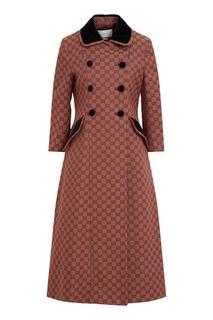 Пальто из жаккардового хлопка Gucci