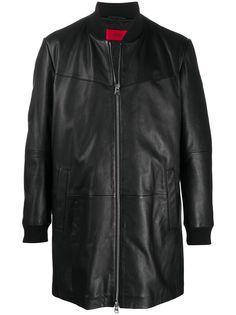 HUGO удлиненная куртка на молнии