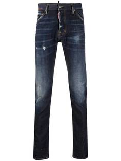 Dsquared2 прямые джинсы с нашивкой-логотипом