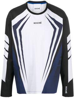 Koché футболка с длинными рукавами и геометричным принтом