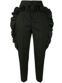 Undercover зауженные брюки с оборками