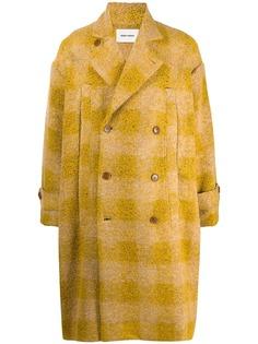 Henrik Vibskov однобортное пальто в клетку