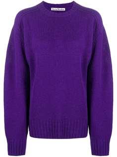 Acne Studios вязаный свитер с круглым вырезом