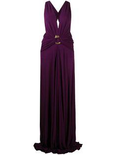 Roberto Cavalli вечернее платье с глубоким вырезом