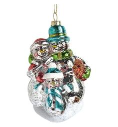 Елочное украшение Новогодняя сказка Снеговик 12 см