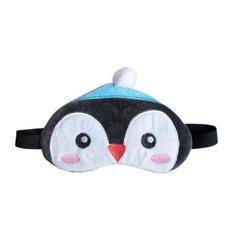 Маска для сна Сима-ленд Пингвин 3594081, голубой/белый/розовый/черный
