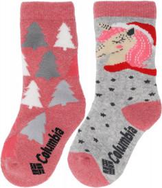 Носки для девочек Columbia, 2 пары, размер 31-34
