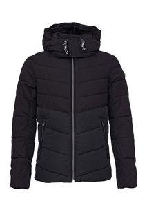 Черная демисезонная куртка на молнии Tom Tailor