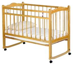 Кроватка Женечка 3 светлый 120х60 классическая No Brand
