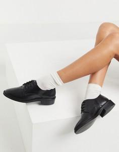 Черные кожаные броги ASOS DESIGN Mayfair-Черный