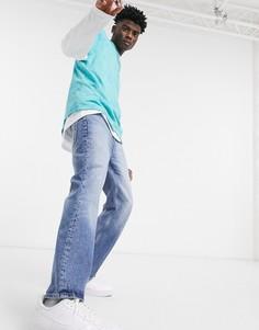 Винтажные джинсы с легким клешем выбеленного темно-синего цвета ASOS DESIGN-Голубой