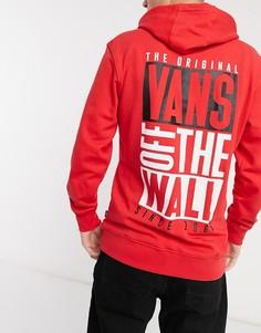 Худи с логотипом Vans-Красный