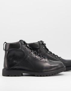 Ботинки на шнуровке с усиленной пяткой H by Hudson Effra-Черный
