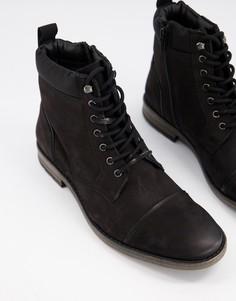 Черные замшевые ботинки на шнуровке Dune-Черный