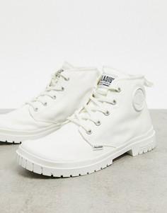 Белые парусиновые ботинки Palladium-Белый