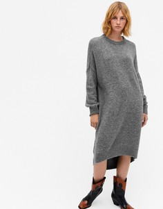 Серое вязаное платье-кокон Monki Meeko-Серый