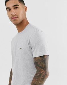 Серая футболка с крокодилом Lacoste-Серый
