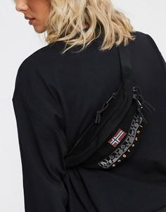 Черная сумка-кошелек на пояс Napapijri Hering 2-Черный