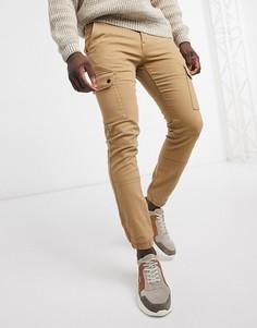 Светло-коричневые зауженные брюки карго Celio-Светло-коричневый