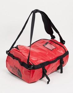 Красная с черным спортивная сумка The North Face Base Camp-Черный
