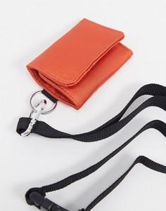 Оранжевая кредитница со съемным ремешком ASOS DESIGN-Красный