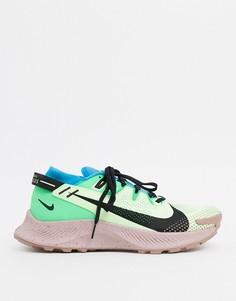 Зеленые кроссовки Nike Running Pegasus Trail 2-Зеленый