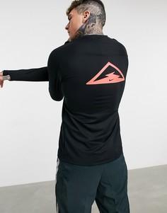 Черный лонгслив Nike Running Trail Element