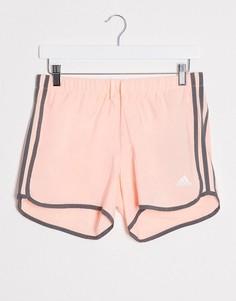 Розовые шорты adidas Running-Розовый