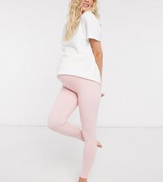 Розовые трикотажные леггинсы от пижамы ASOS DESIGN Maternity-Розовый