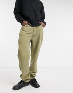 Зеленые вельветовые винтажные джинсы ASOS DESIGN-Многоцветный