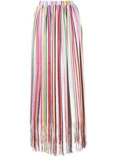 Missoni Mare длинная юбка в полоску с бахромой
