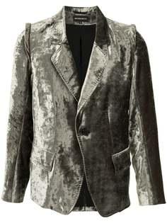 Ann Demeulemeester бархатный пиджак строгого кроя