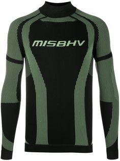 MISBHV футболка с длинными рукавами и вышитым логотипом