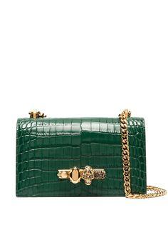 Alexander McQueen сумка-сэтчел Jewelled с тиснением под кожу крокодила