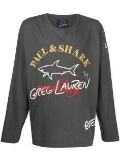 Greg Lauren X Paul & Shark футболка с длинными рукавами и логотипом