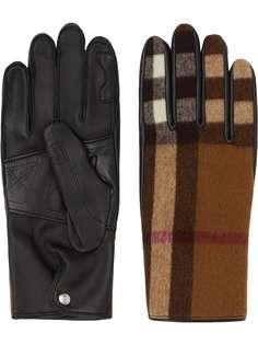 Burberry перчатки в клетку