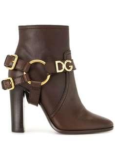 Dolce & Gabbana ботильоны с пряжкой-логотипом DG