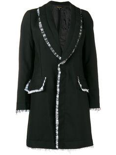 Comme Des Garçons пальто с отделкой из тюля