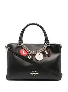 Love Moschino сумка-тоут Love из искусственной кожи с подвесками